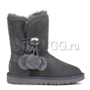 UGG Bailey Button Pom Grey