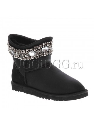 UGG Jimmy Choo Crystals Metallic Black