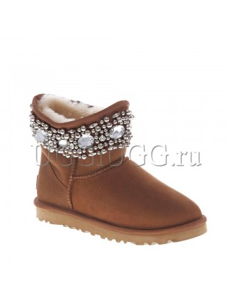 UGG Jimmy Choo Crystals Chestnut