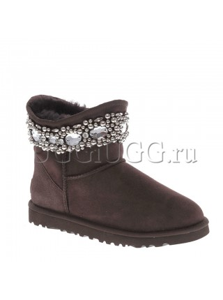 UGG Jimmy Choo Crystals Chocolate