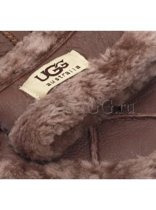Кожаные перчатки UGG Gloves Tenney Chocolate коричневые
