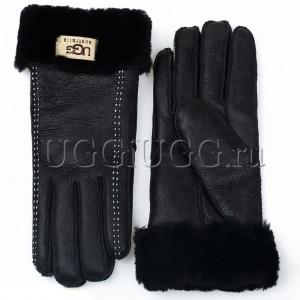 Кожаные перчатки UGG Gloves Tenney Black Черные