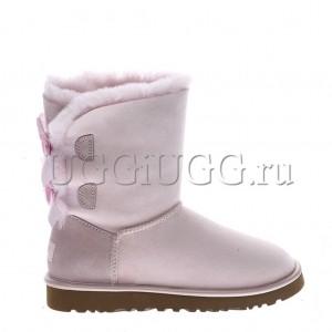 UGG Bailey Bow II Metallic Seashell Pink