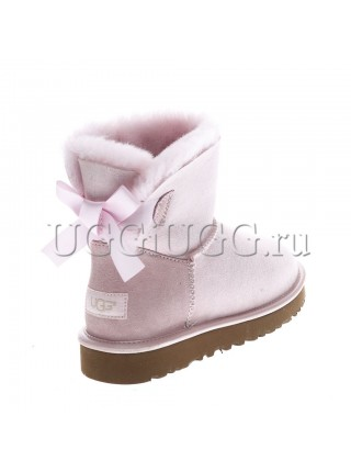 UGG Mini Bailey Bow II Metallic Seashell Pink