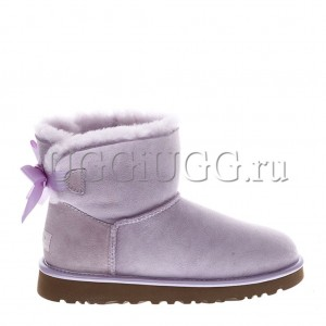 UGG Mini Bailey Bow II Metallic Lavender Fog
