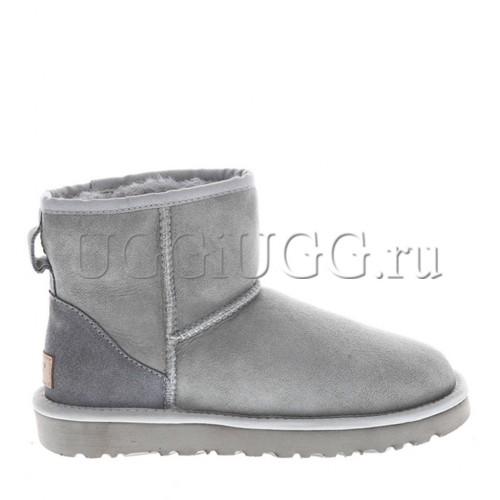 Женские светло-серые мини угги UGG Classic II Mini Grey Violet