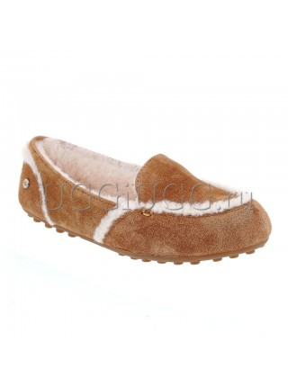 Лоферы угги рыжие UGG Hailey Loafer Chestnut