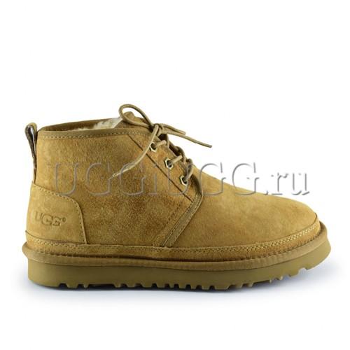Женские ботинки угги замшевые рыжие UGG Neumel Boot Chestnut