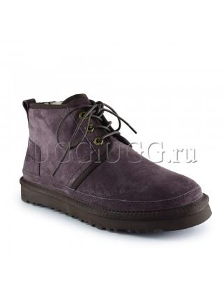 Женские ботинки угги замшевые коричневые UGG Neumel Boot Chocolate
