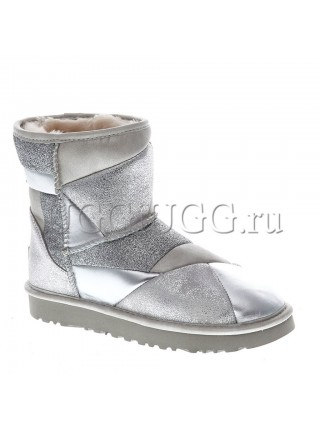 UGG Classic II Patchwork Silver
