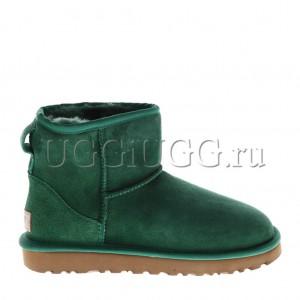 Женские угги мини зеленые UGG Classic II Mini Green