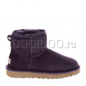 Женские угги мини фиолетовые UGG Classic II Mini Purple