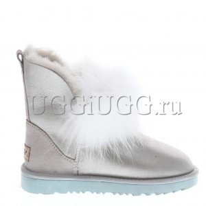 Угги с лисой спереди серебристые UGG Fox Gen II I Do