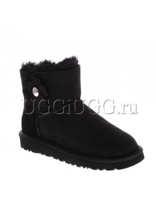 UGG Mini Bailey Button Poppy Black