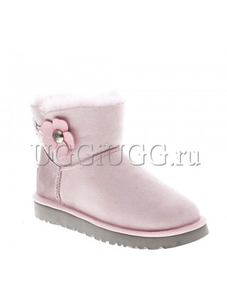 UGG Mini Bailey Button Poppy Lavender Fog