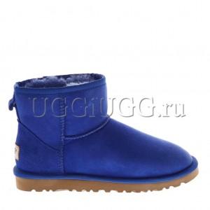 Женские угги мини ярко-синие UGG Classic II Mini Electric Blue