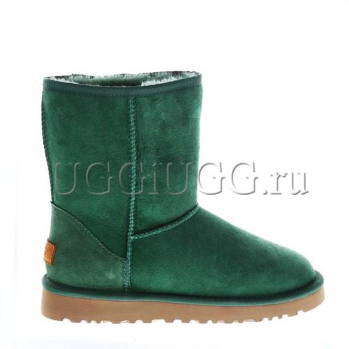 Зеленые короткие угги непромокаемые UGG Classic II Short Green