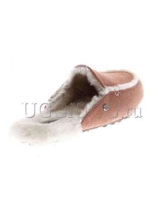 Женские тапочки лоферы UGG Lane Slip-on Loafer Apricot