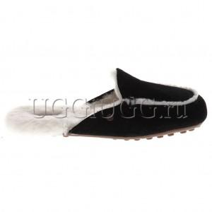 Женские лоферы угги черные UGG Lane Slip-on Loafer Black
