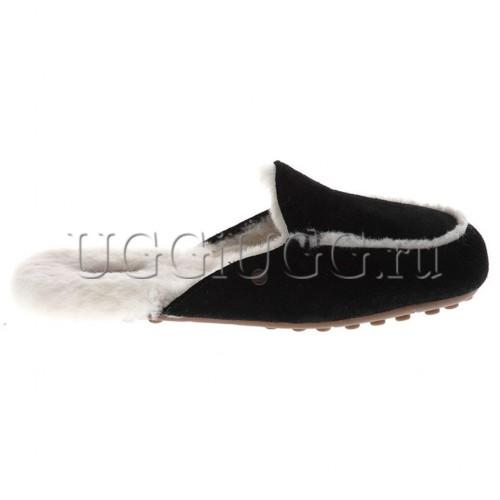 Женские черные лоферы угги UGG Lane Slip-on Loafer Black