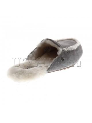 Женские лоферы угги серые UGG Lane Slip-on Loafer Grey