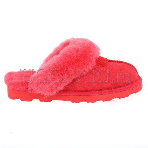 Тапочки угги домашние красные UGG Slippers Scufette Red
