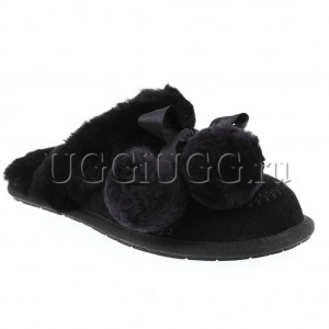 UGG Slipper Hafnir Pom Black