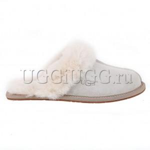 Женские тапочки угги светло-серые UGG Slipper Scufette II Grey