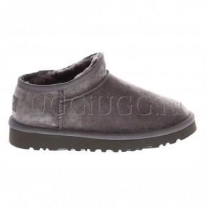 Слиперы с мехом серые UGG Slipper Tasman Grey