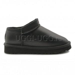Угги слиперы черные UGG Slipper Tasman Metallic Black