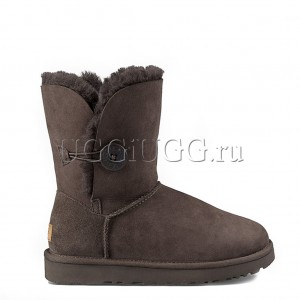 UGG Bailey Button II Short Chocolate