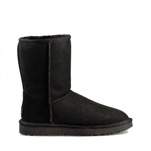 Черные короткие угги непромокаемые UGG Classic II Short Black