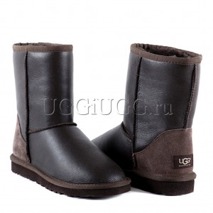 UGG Australia Classic Short Metallic Chocolate