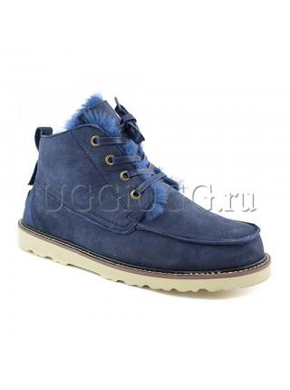 Мужские угги ботинки синие UGG Mens Beckham Navy