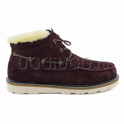 Мужские ботинки с мехом коричневые UGG Mens Ailen Burgundy