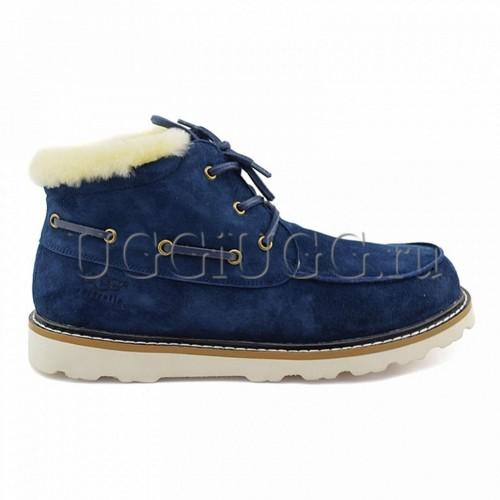 Мужские ботинки с мехом синие UGG Mens Ailen Navy