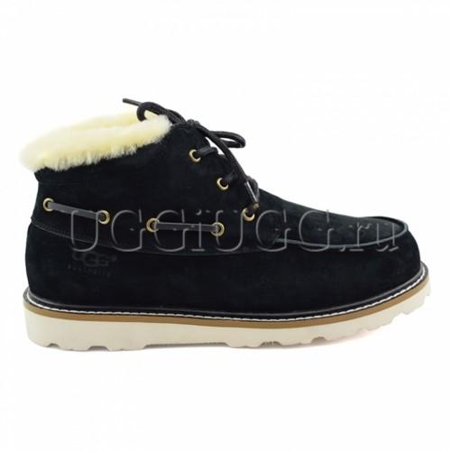 Мужские ботинки с мехом черные UGG Mens Ailen Black