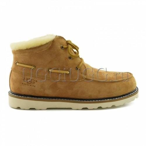 Мужские ботинки с мехом рыжие UGG Mens Ailen Chestnut