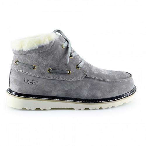Мужские ботинки с мехом серые UGG Mens Ailen Grey Violet