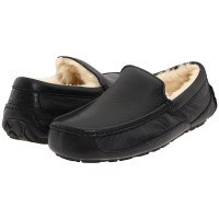 UGG Men Moccasins Ascot Metallic Black