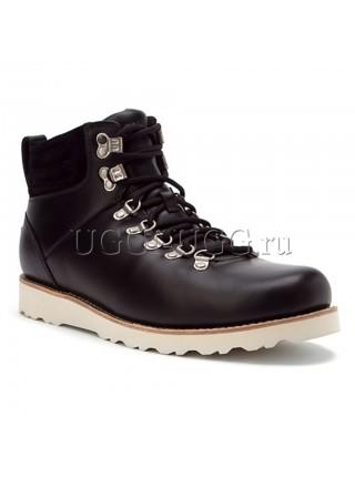 Черные мужские угги ботинки UGG Mens Capulin Black White