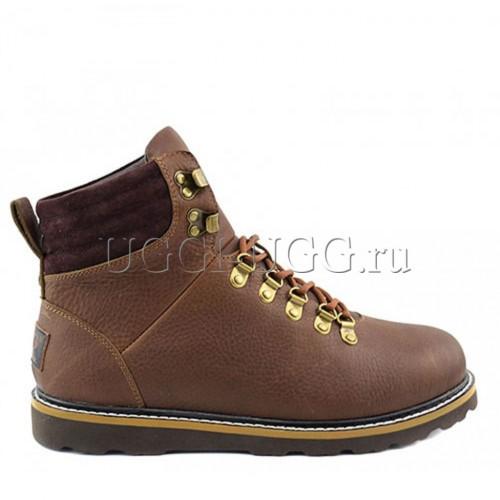 Мужские угги ботинки коричневые кожаные UGG Mens Capulin Brown