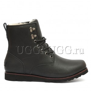 Мужские ботинки угги черные UGG Mens Hannen Leather Black