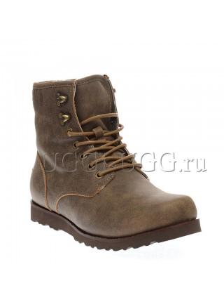 Мужские ботинки угги хаки UGG Mens Hannen Leather Grizzly