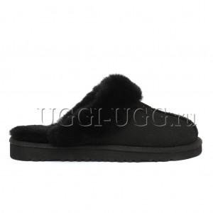 Мужские тапочки угги черные UGG Mens Slippers Scufette Black