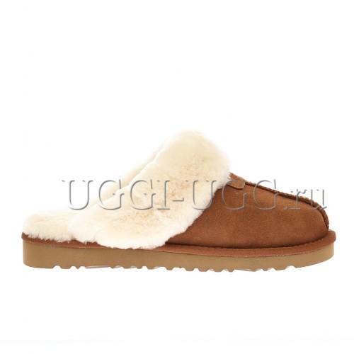 Мужские тапочки угги рыжие UGG Mens Slippers Scufette Chestnut