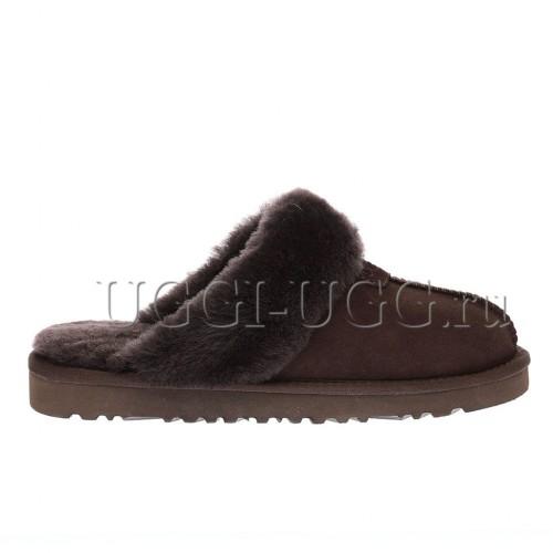 Мужские тапочки угги коричневые UGG Mens Slippers Scufette Chocolate