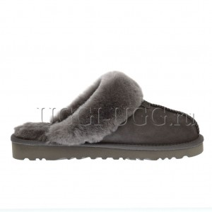 Мужские тапочки угги серые UGG Mens Slippers Scufette Grey