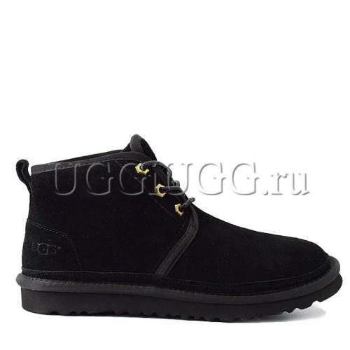 Мужские черные угги ботинки UGG Men Mini Neumel Black