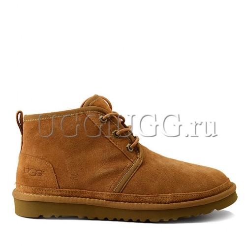 Мужские угги ботинки рыжие UGG Men Mini Neumel New Chestnut